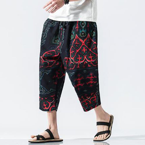 Summer New Beach Casual wide leg Men pants