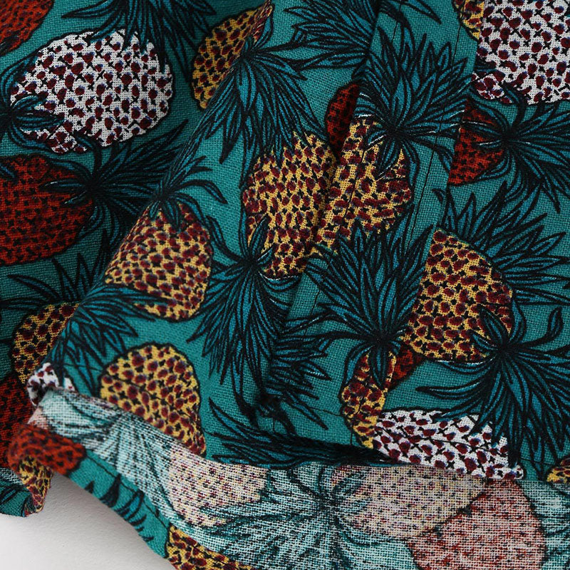 Casual Pineapple Printed Men's Short-sleeve Shirts