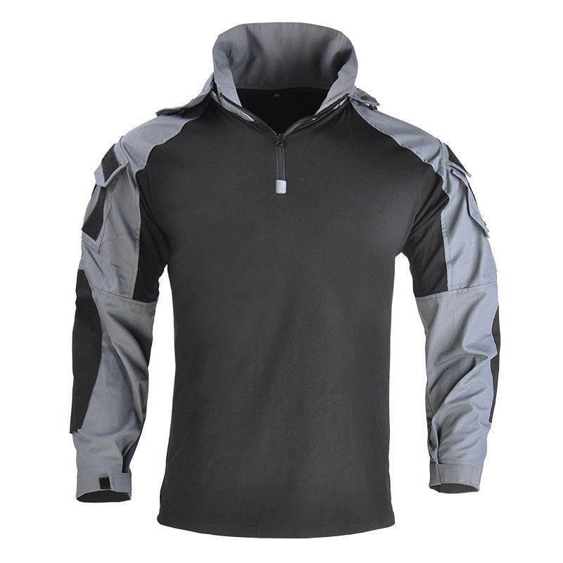 Outdoor Cool Hooded Long Sleeve Men's T-shirt