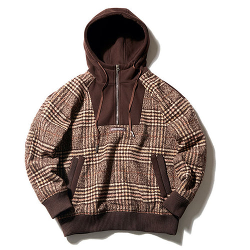 Loose Split Joint Hooded Men Casual Hoodie