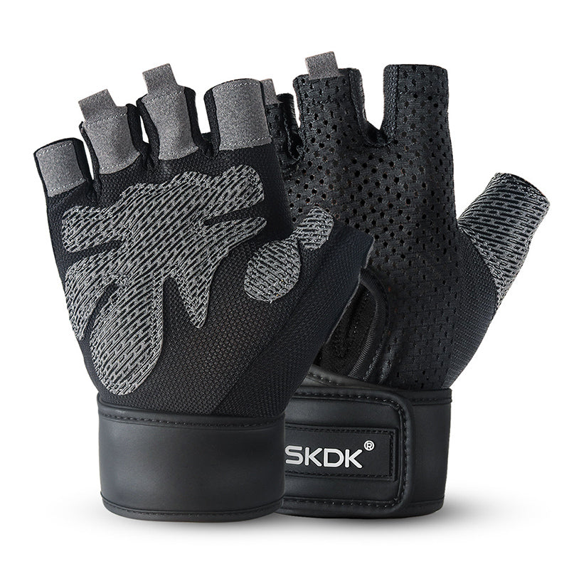 Thin Sweat-absorbent Non-slip Wrist Protector Men's Riding Gloves