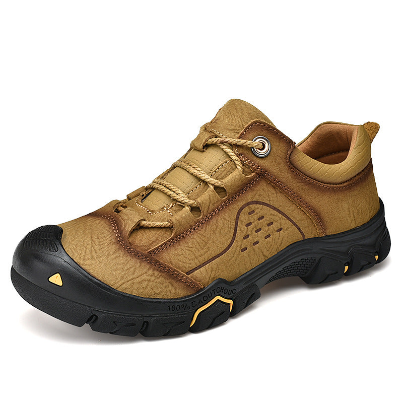 Cowhide Breathable Wear-resistant Men's Outdoor Shoes