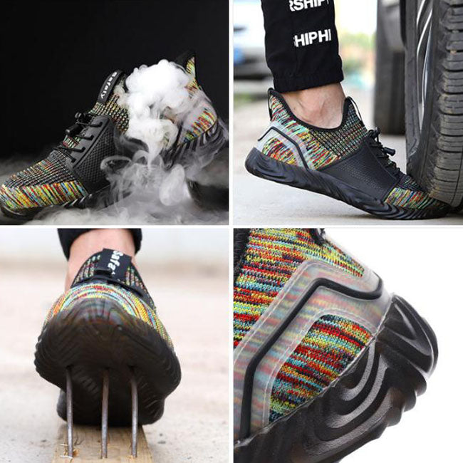 Fashionable Non-slip Steel Toe Cap Men's Outdoor Work Shoes