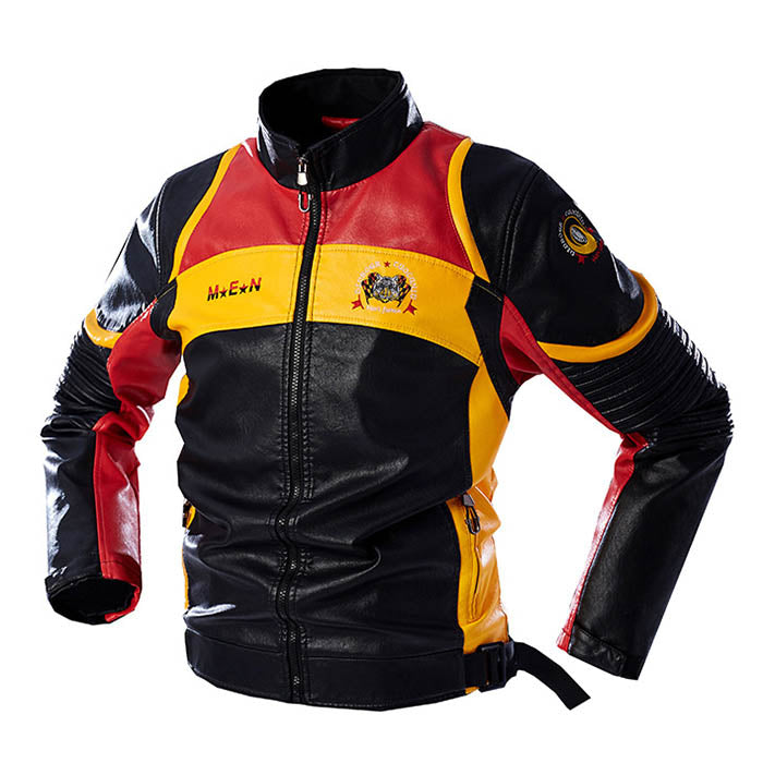 Motorcycle Handsome Men's Leather Jacket