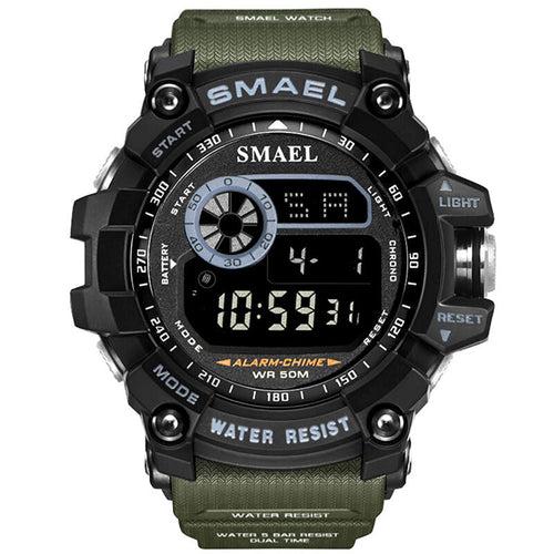 Cowboy Style Dual Display Waterproof Men Wristwatch