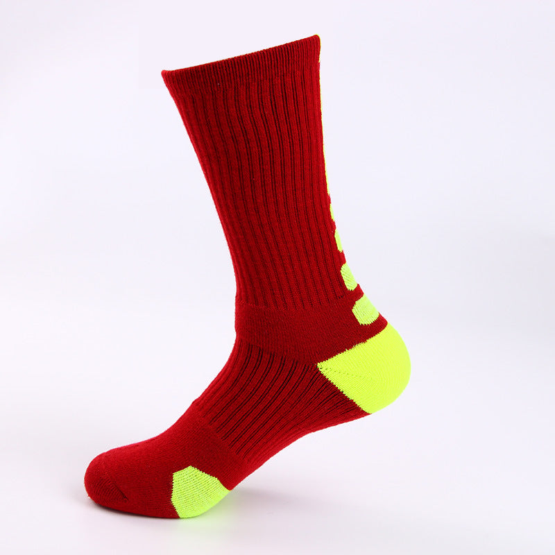 Towel Bottom Sports Terry Padded Non-slip Basketball Socks