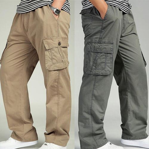 Extra Large Size Casual Loose Straight Men's Pants
