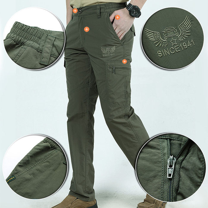 Quick Drying Multi-Pocket Hiking Plus Size Men's Pants