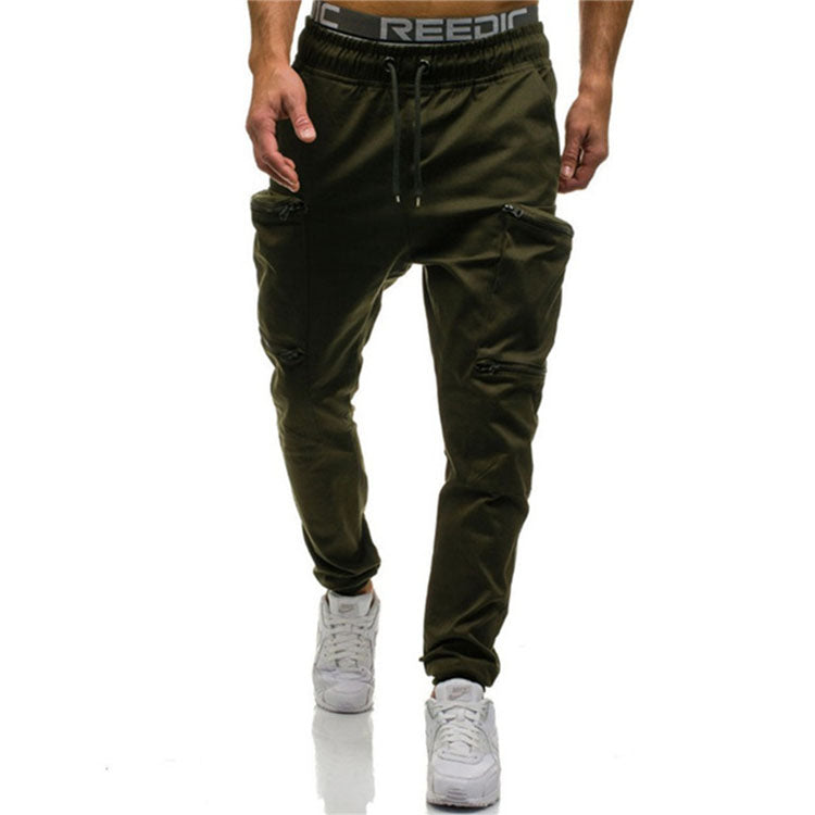 Men's Slim Sports Pocket Stitching Casual Pants