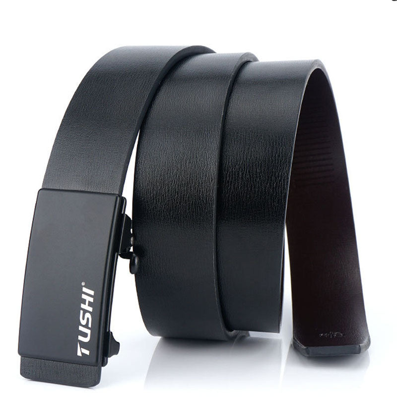 Men's Leather Tactical Belts, Automatic Male Belts Cummerbunds Leather
