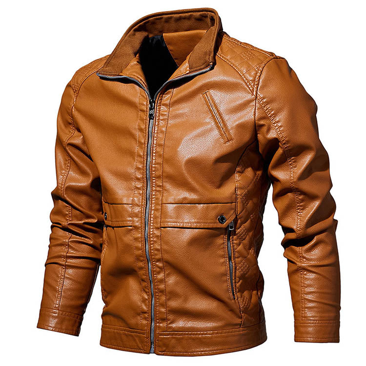 Cool Locomotive Stand-up Collar Men's Jacket
