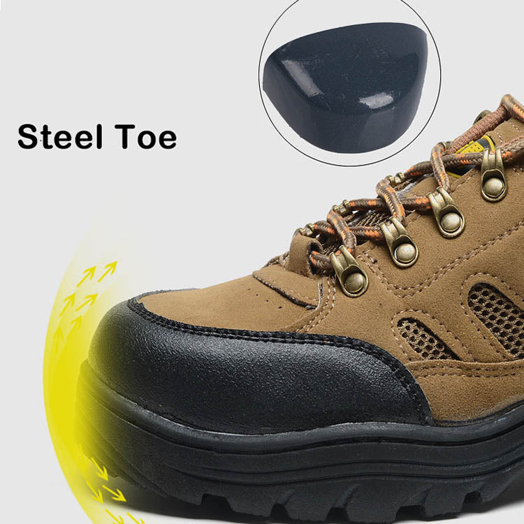 Leather Rubber Bottom Anti-skid Anti-smashing and Piercing Work Shoes