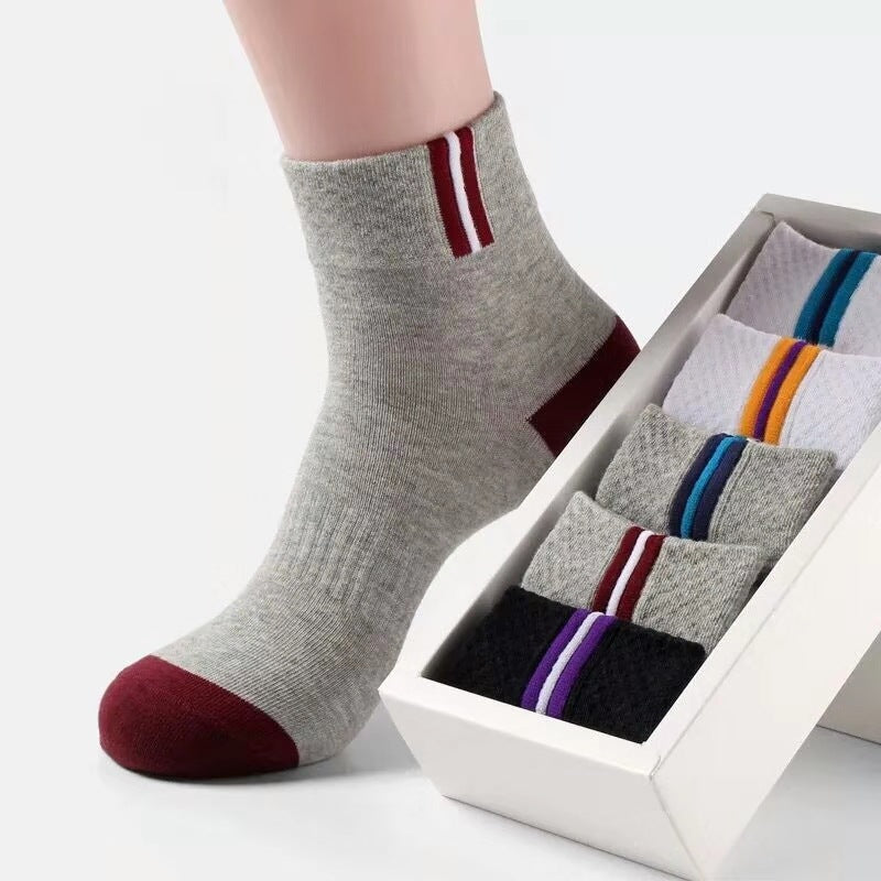 Simple Cotton Breathable Men's Sock