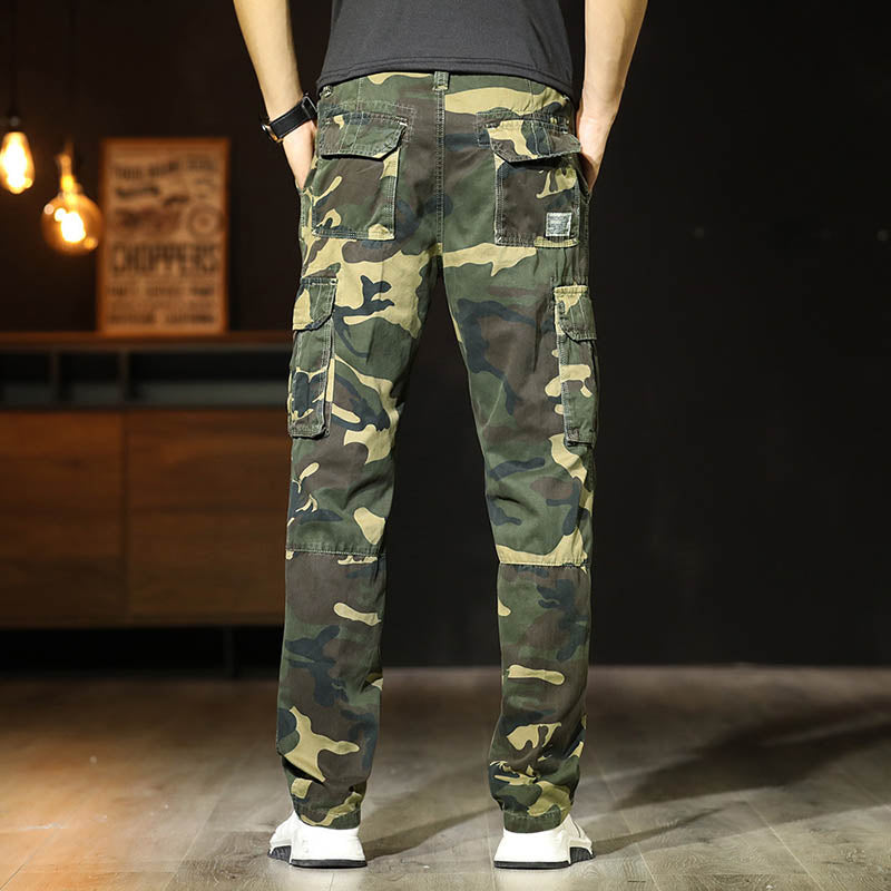 Cotton Multi-pocket Wear-resistant Men's Pants
