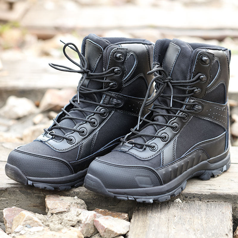 Outdoor Black Tactics Shock-absorbing Men Ankle Boots