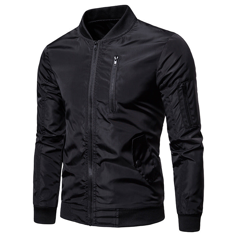 Casual Stand Collar zipper decoration Men Jacket - KINGEOUS