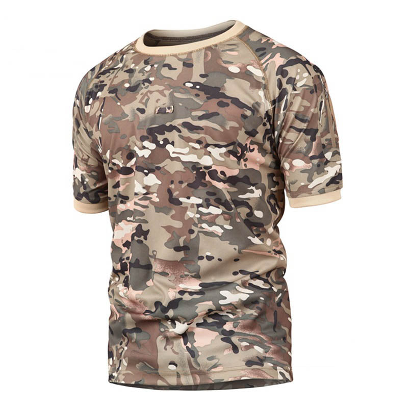 Tactical Camo Breathable Round-neck Short-sleeve Men's T-shirt