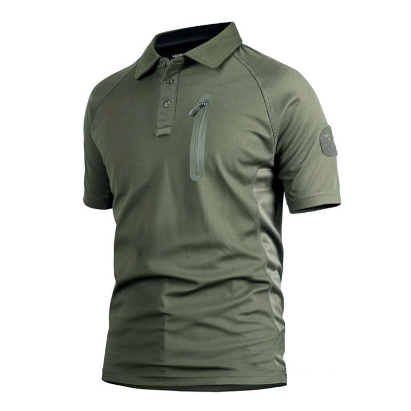 Camo Tactical Ice Rock Series Quick-drying Men's T-shirt - KINGEOUS