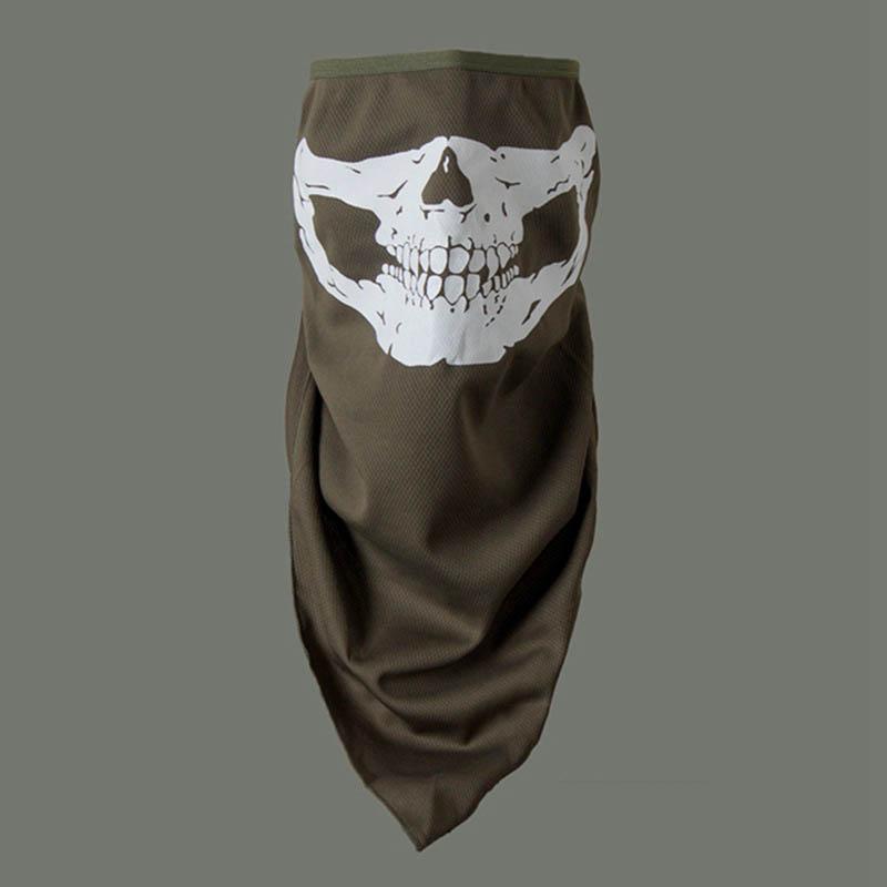 Dust-proof Sunscreen Skull Luminous Riding Quick-drying Face Cover
