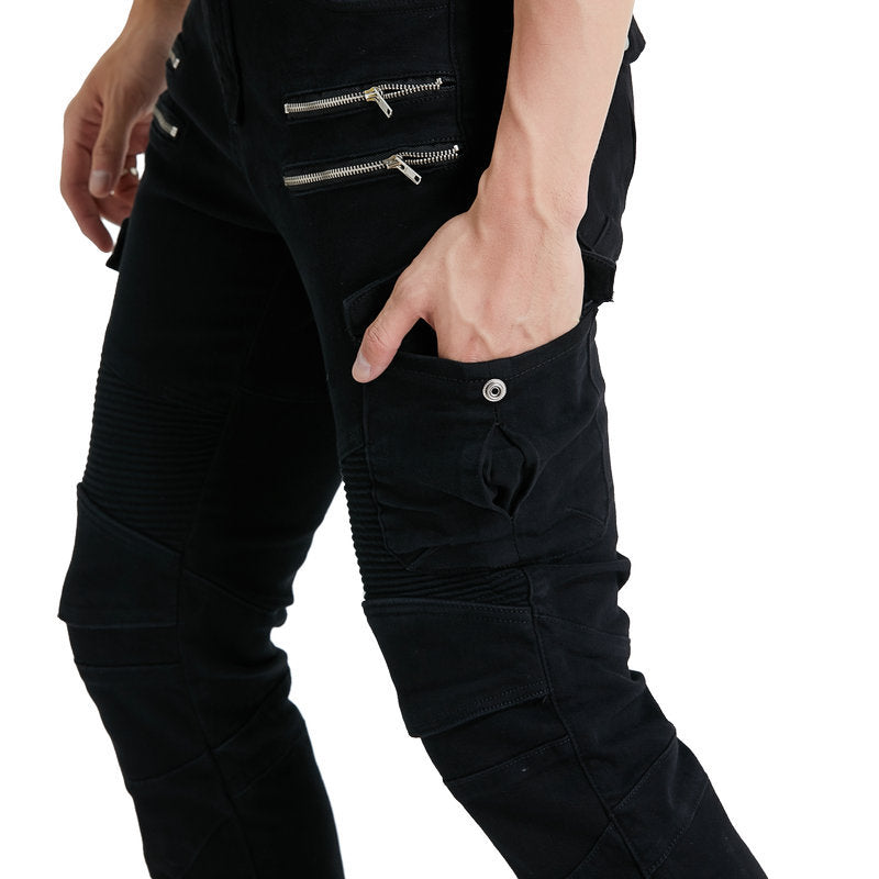 Summer Cotton Anti-drop Off-road Men's Motorcycle Pants