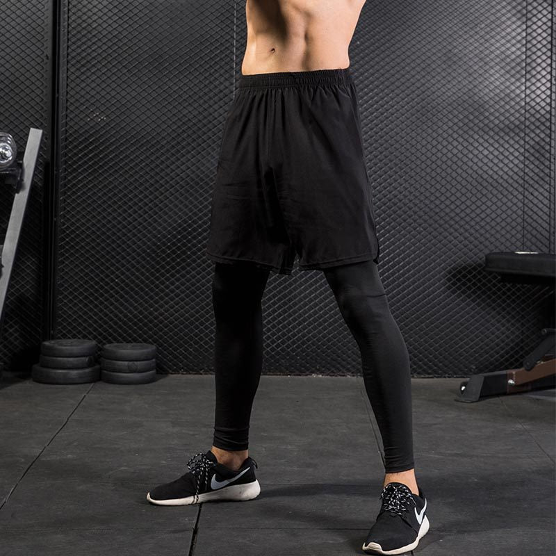 Fast Drying Fake Two Pieces Men's Sportswear Pants