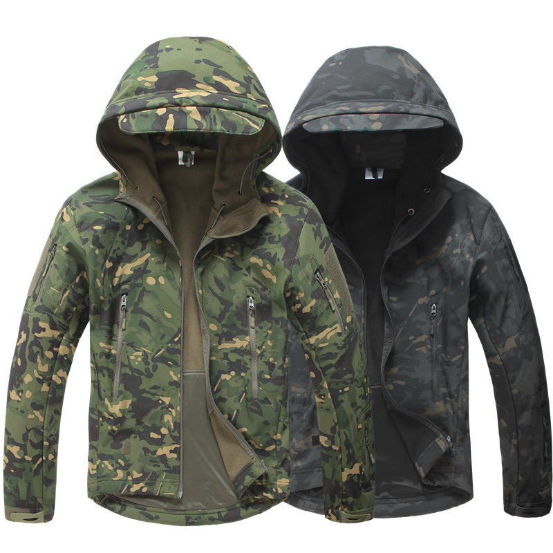 Soft-shell Windproof Camouflage Men Coat