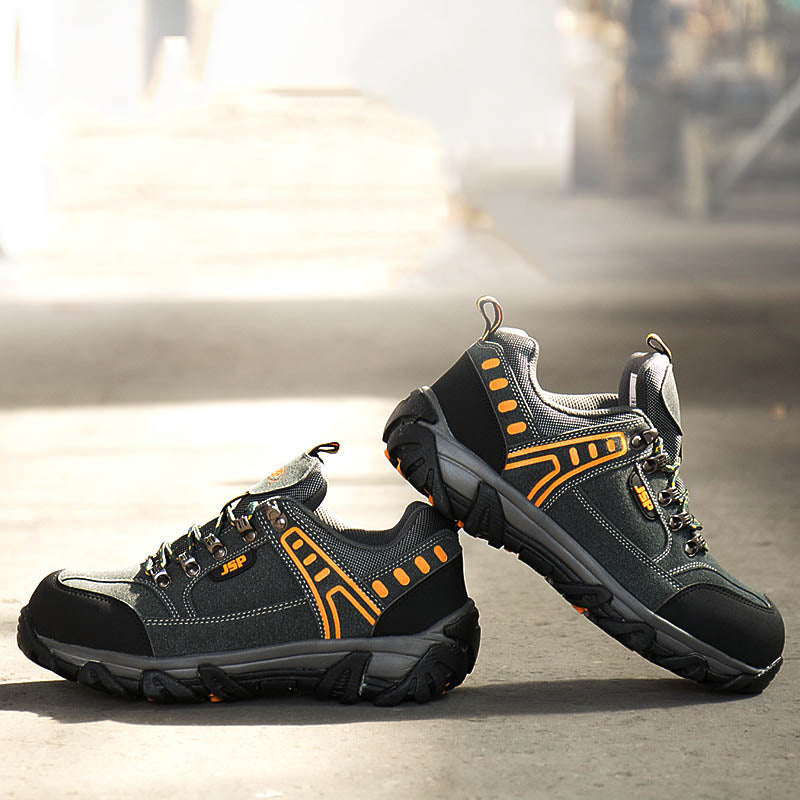 Non-slip Safety Anti-smashing and Anti-puncture Steel Toe Cap Men Shoes
