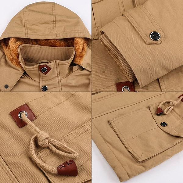 Army Style Thick Winter Inner Protection Men's Jacket