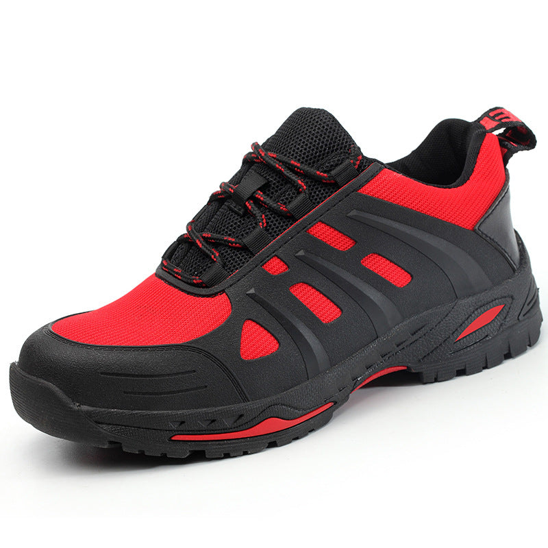 Smash-proof and Stab-proof Kevlar Bottom Portable Breathable Safety Shoes