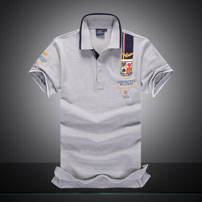 Air Force Boutique Embroidered Breathable Men's Polo T-shirt