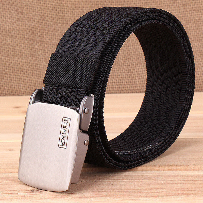 Solid Color Tactical Metal Buckle Quick-drying Nylon Belt