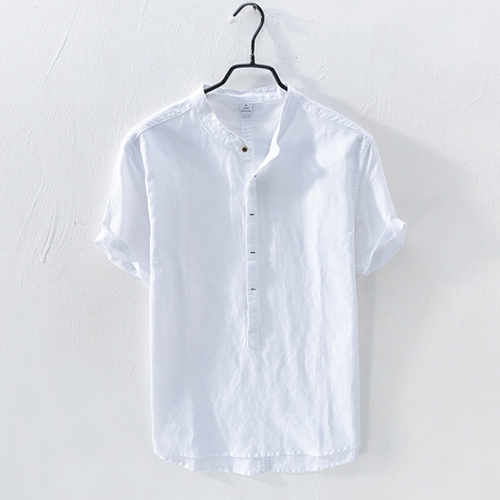 Short Sleeve 100% Cotton Retro Shirt