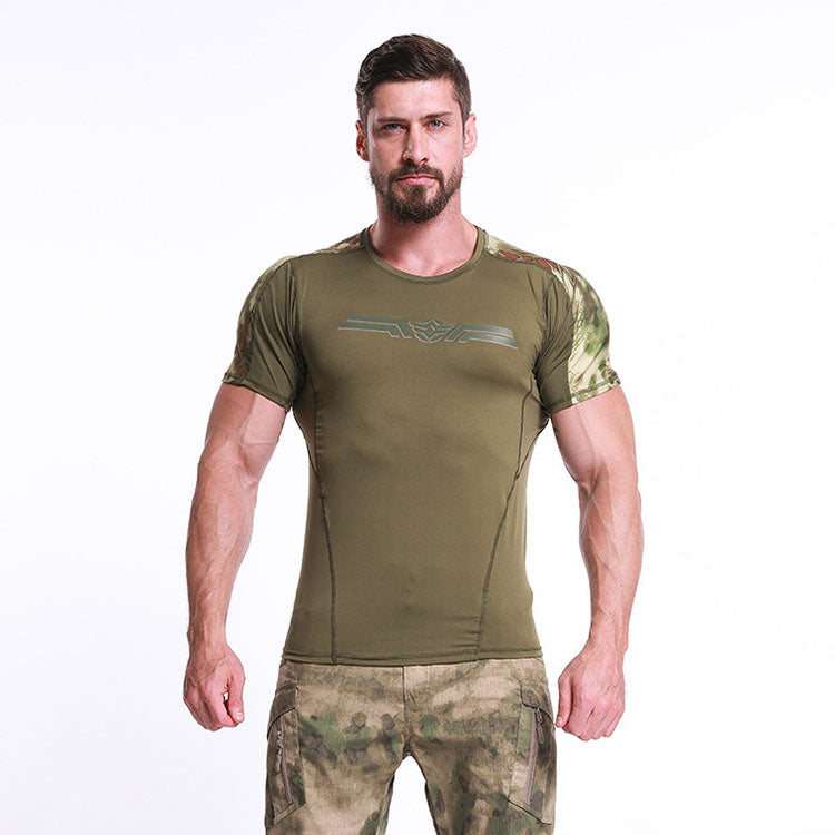 Solid Color Outdoor Quick-drying Short Sleeves Men's T-Shirts