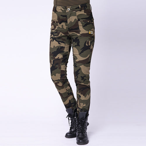 Outdoor Military Camouflage Elastic Women's Cargo Pants