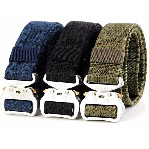 Add Thicken Weave Canvas Cargo Men Belt