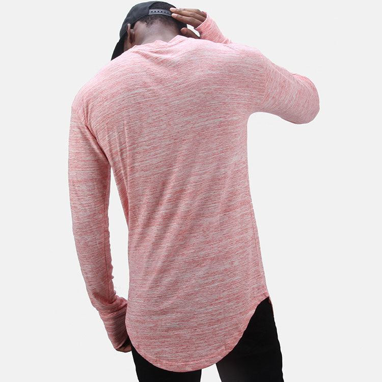 Hip-hop Round-neck Striped Long-sleeve Men's T-shirt