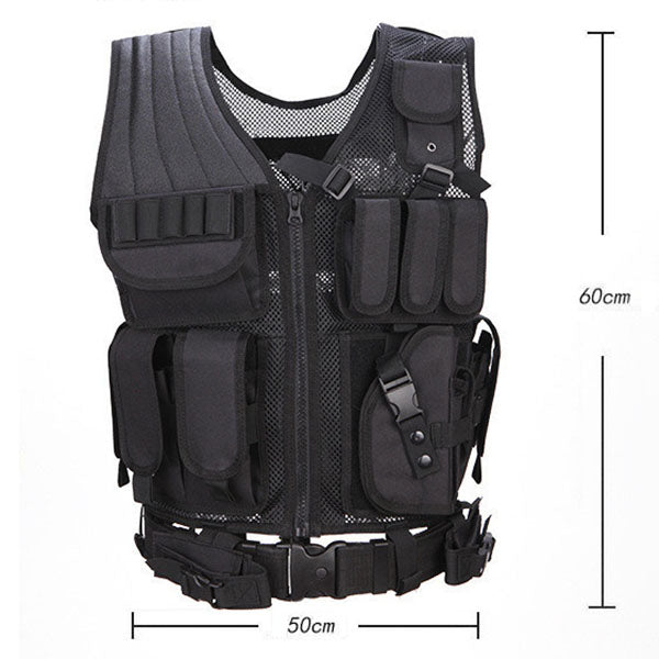 Tactical Military Fan Equipped CS Function Multi-pocket Vest