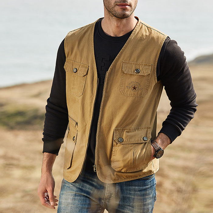 New Leisure Hiking Fishing Photography Camping Vests For Men