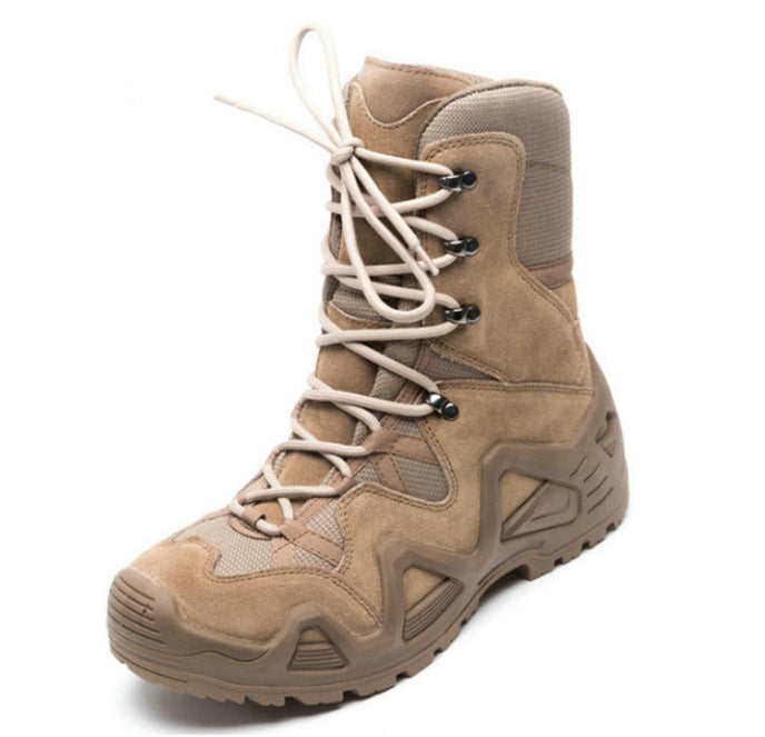 Leather Waterproof Tactical Hiking Walking Men's Boots