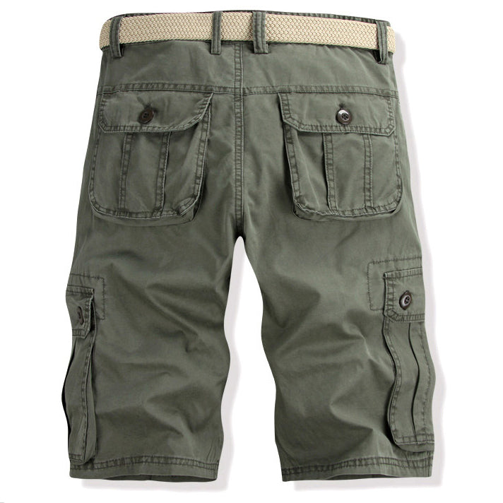 Outdoor Pure Cotton Multi-Pocket Camouflage Shorts