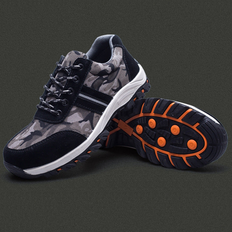 Outdoor Breathable Steel Toe Cap Work Safety Men Shoes