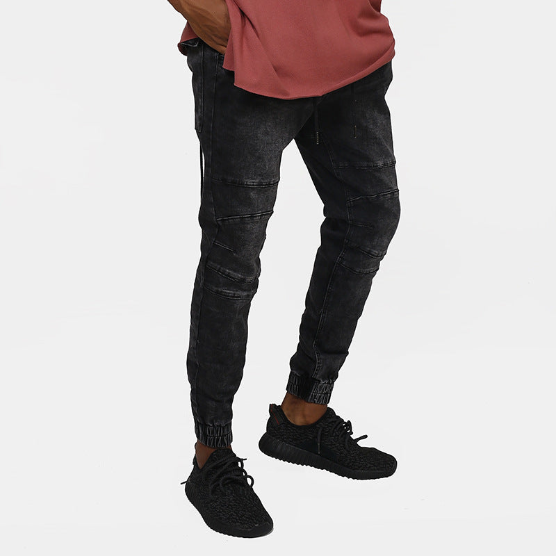 Casual Retro High Street Stonewashing Men's Jeans - KINGEOUS
