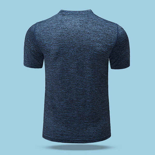 Fitness Elastic Quick-drying Round Neck Men's T-Shirt
