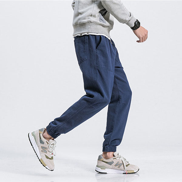 Hip-hop Plus Pocket Ankle Banded Pants