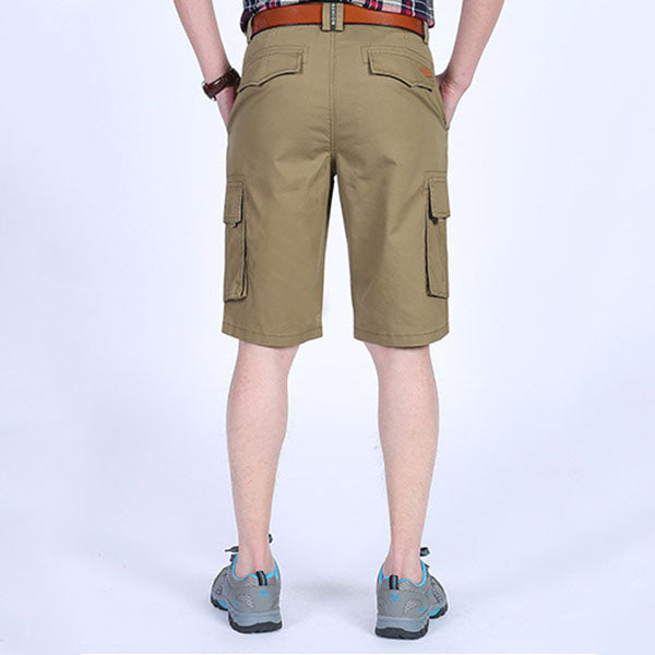 Solid Color Plus Pocket Design Men's Cargo Shorts