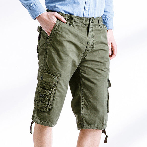 Large Size Outdoor Cotton Multi-pocket Men's Cargo Shorts