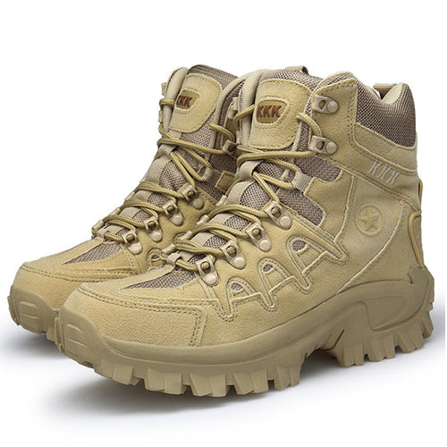 Side Zipper Design Hook&Loop High Top Tactical Boots