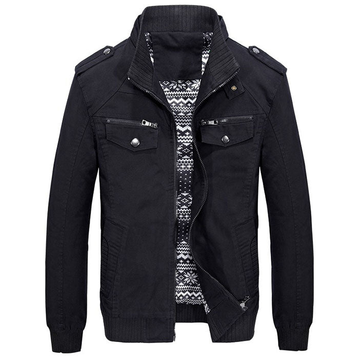 2018 New Casual Multi-Pocket Loose Plus Size Men's Jacket - KINGEOUS