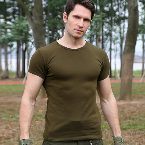 Python Pattern Militarily Breathable Cotton Men's T-shirt