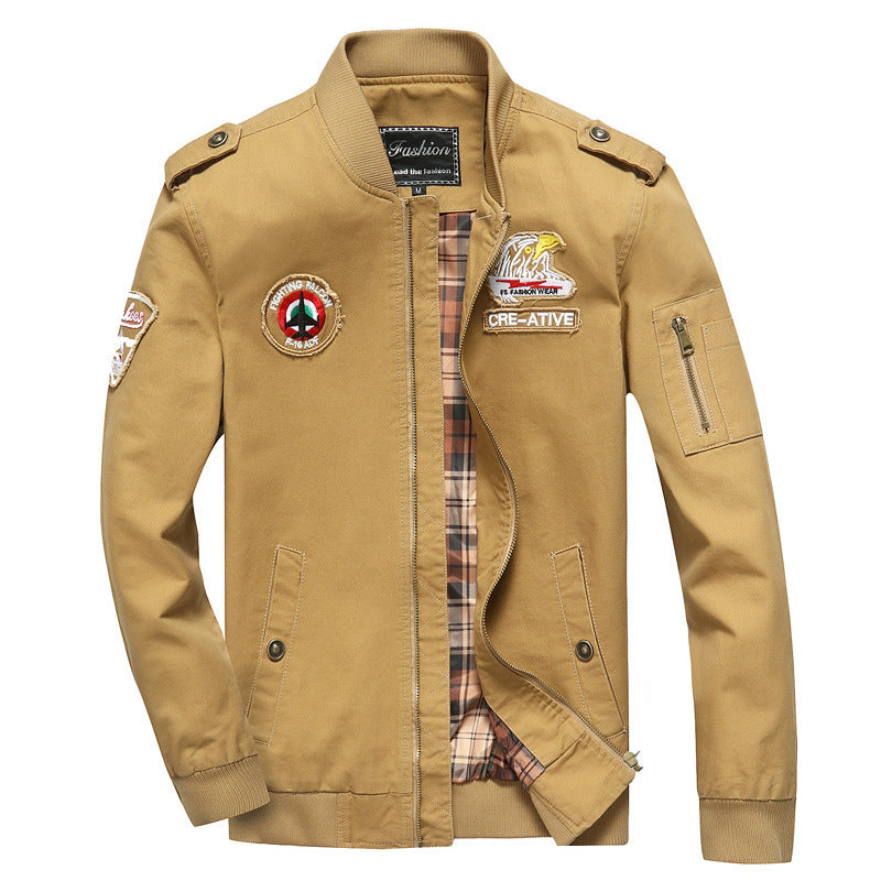 Casual Cotton Flight Men's Jacket - KINGEOUS